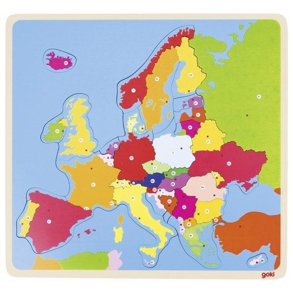 Goki 57509 - Puzzle Europa