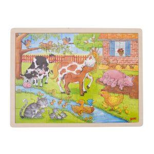 Goki 57745 - Einlegepuzzle Leben auf dem Bauernhof