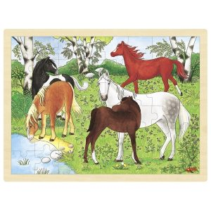 Goki 57894 - Einlegepuzzle Ponyhof