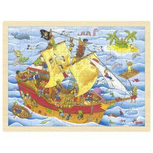 Goki 57831 - Einlegepuzzle Piraten