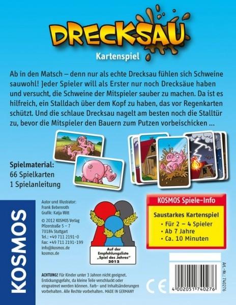 Kartenspiel ab 7 Jahre, Drecksau, 4002051740276