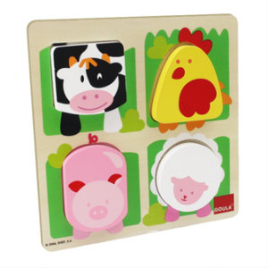 Goula (Jumbo) D53011 - Holzpuzzle Bauernhoftiere
