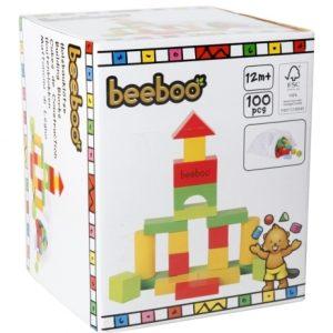 Vedes 41005581 - Beeboo Holzbausteine, bunt 100-teilig
