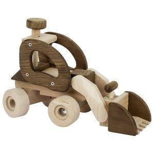 Goki 55910 - Holzauto großer Radlader Natur