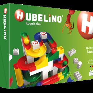 HUBELINO 420480 - Basis Baukasten (123 Teile) Kugelbahn