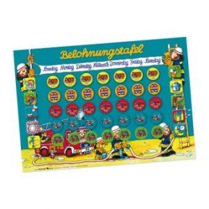 Belohnungstafel Feuerwehrmann Benny Brandmeister Lutz Mauder Verlag 4026477188474