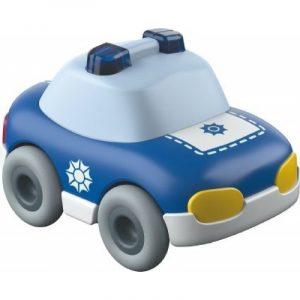 Kullerbü Polizeiauto, Haba, 302975, 4010168228037, Schwungradantrieb