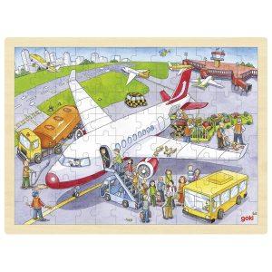 Goki 57544 - Einlegepuzzle Auf dem Flughafen