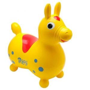 Vedes 4019962 - Hüpfpferd Rody, gelb, ca. 54 cm, ab 3 Jahren