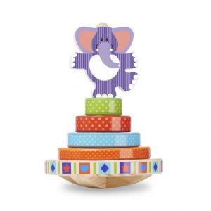 Melissa & Doug - Schaukelnder Stapel-Elefant - Spielzeug ab 1 Jahr