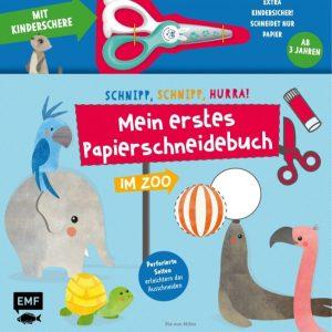 Papierschneidebuch mit Kinderschere
