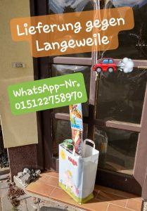 Corona WhatsApp Nummer Beratung und Lieferdienst gegen Langeweile