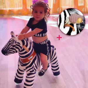 PonyCycle - Reitpferd (Zebra) UX368