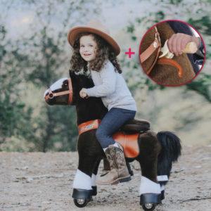 PonyCycle - Reitpferd (Pferd) - dunkelbraun - UX321