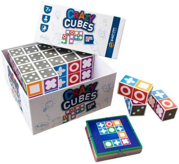 CrazyCubes Denkspiel vollständiger Inahlt, Aufgabenkarten und Blöcke