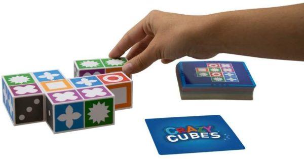 CrazyCubes Denkspiel, Blöcke und Aufgabenkarten