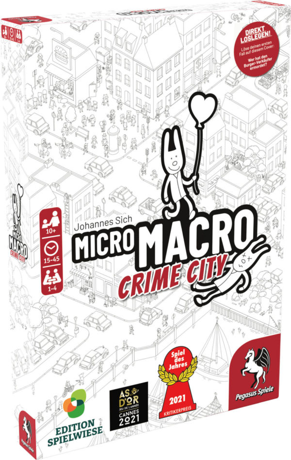Spiel des Jahres 2021: Pegasusspiele Micro Macro - Crime City